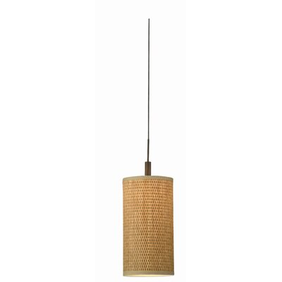 Organic Modern Low Voltage Pendant Shade in Natural Grasscloth