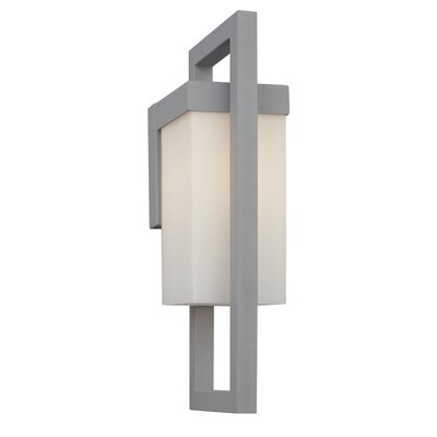 Philips Forecast Lighting City One Light Outdoor Wall Lantern with White Opal in Bronze