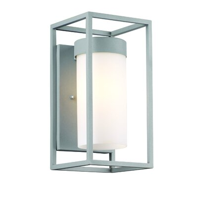 "Philips Forecast Lighting Cube 12"" x 6"" One Light Outdoor Wall Sconce in Graphite"