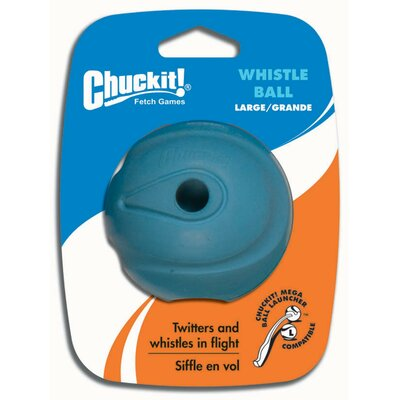Chuck-It Whistle Dog Ball Toy in Blue