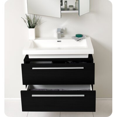 Fresca Medio Modern Bathroom Vanity with Medicine Cabinet