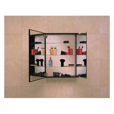 Robern PL Series Flat Plain Mirrored Door Cabinet with Inside Tri-View