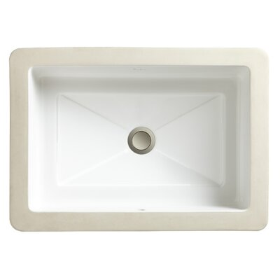 Marquee Rectangle Large Undermount Bathroom Sink - 12020-00
