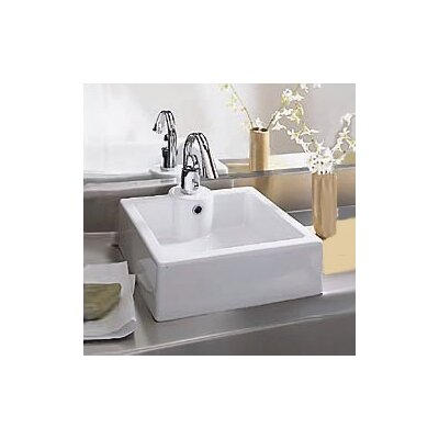 Porcher Cubo Bathroom Vessel Sink in White