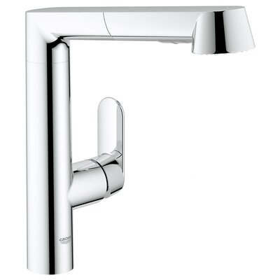 Grohe K7 Main Single Handle Single Hole Kitchen Faucet with Watercare and Pull Out Spray ...