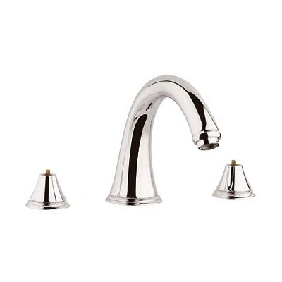 Grohe Geneva Deck Mount Roman Tub Filler Faucet Trim Less Handles