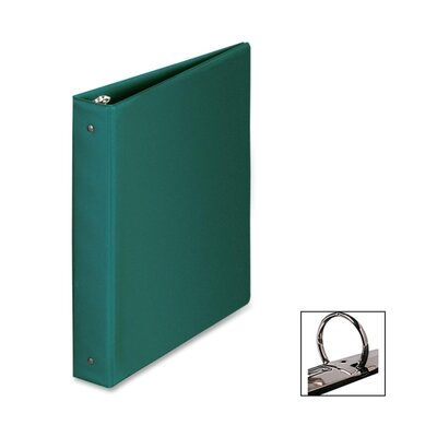 "Business Source Round Ring Binder, 1-1/2"" Capacity, 11""x8-1/2"", Green"
