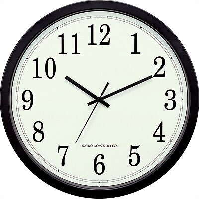 "La Crosse Technology 14"" Classic Black Atomic Wall Clock"