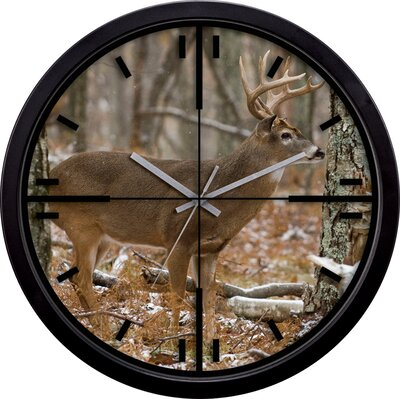 La Crosse Technology Deer in Crosshairs Wall Clock