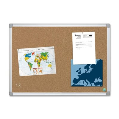 "Bi-silque Visual Communication Product, Inc. Mastervision Mastervision Earth Cork Board, 72"" Wide, Aluminum Frame"