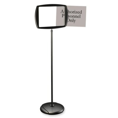 "Bi-silque Visual Communication Product, Inc. Interchangeable Floor Pedestal Sign, Interchangeable, 11""x15""x39"", Black"