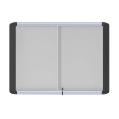 Bi-silque Visual Communication Product, Inc. Platinum Pure White Magnetic Dry-erase, Enclosed, Magnetic, 3'x4', White
