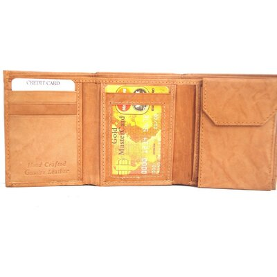 Kozmic Leather Triifold Wallet