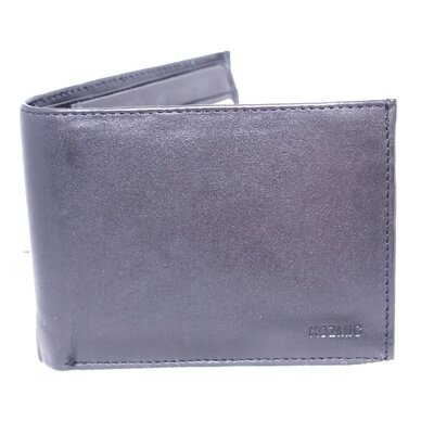 Leather Bi Fold Quadra Sides Flip Out Double ID Wallet