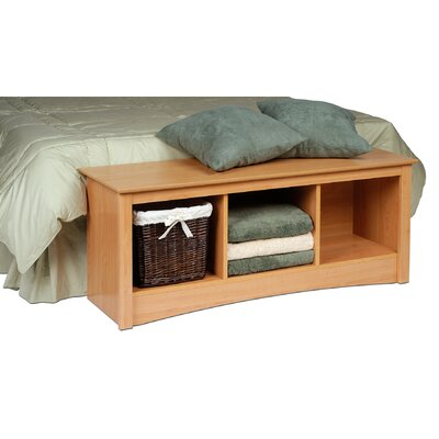 Prepac Sonoma Wood Storage Bedroom Bench