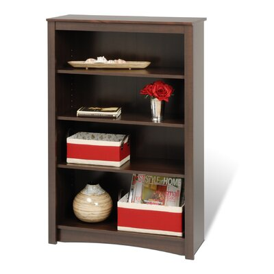Prepac Bookcase with Four Shelves in Espresso