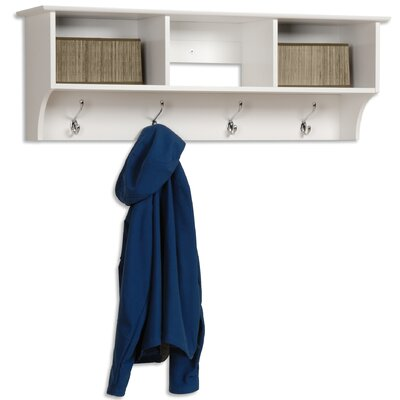 Prepac Monterey Entryway Shelf in White