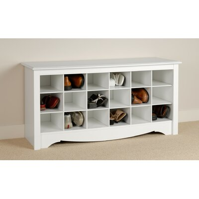 Prepac Monterey Wood Cubbie Storage Bench