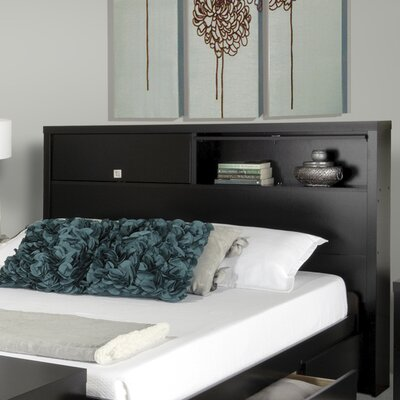 Prepac Designer Series 9 Bookcase Headboard Bedroom Collection