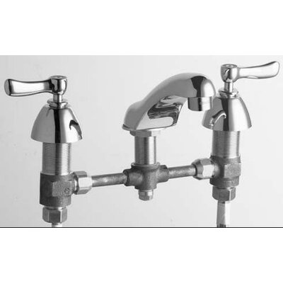 Chicago Faucets Concealed Widespread Bathroom Sink Faucet with Double Lever Handles