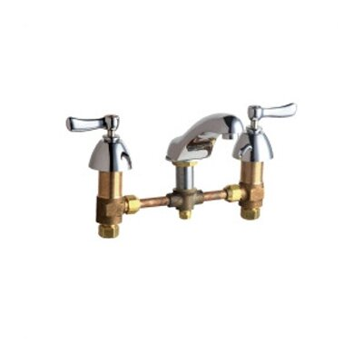 Chicago Faucets Widespread Bathroom Faucet with Double Lever Handles