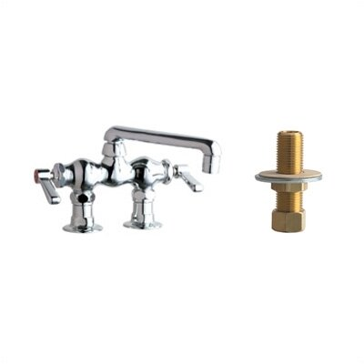 772 Above Deck Mount Double Handle Widespread Bridge Faucet with Inlet Arms and 6
