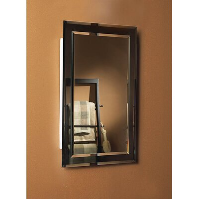 Mirror On Mirror Rectangular Single Door Recessed Cabinet