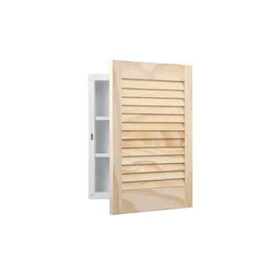 Basic Louver Single Molded Recessed Cabinet