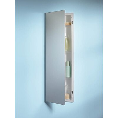 Specialty Pillar Single Door Recessed Cabinet with Glass Shelves