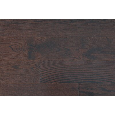 "Jasper Stained Semi-Gloss 4-1/4"" Solid Red Oak in Moka / Folk"