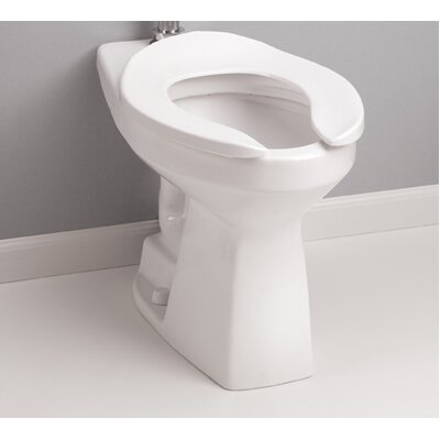 High Efficiency Commercial ADA Floor Mounted Flushometer Elongated Toilet Bowl Only