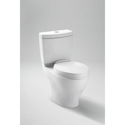 Aquia Dual Flush 1.6 GPF / 0.9 GPF Elongated 2 Piece Toilet