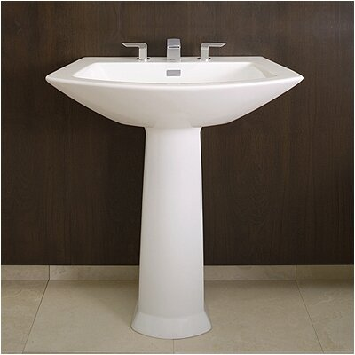 Soiree Pedestal Bathroom Sink Set - LPT960