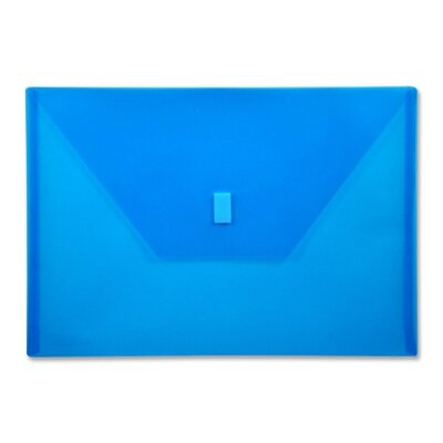 "Lion Office Products Poly Envelope,Hook and Loop Closure,13""x9-3/8"",Blue"