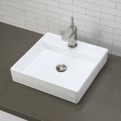 Classically Redefined Square Vessel Bathroom Sink - 1464-CWH