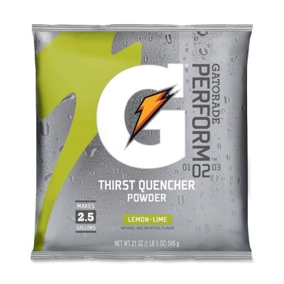 Quaker Foods Gatorade Mix Pouches, Makes 2-1/2 Gal, 21 Oz.