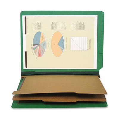 S J Paper End Tab Classification Folder