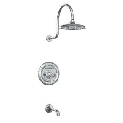 Jado Savina Pressure Balance Diverter Tub and Shower Faucet with Lever Handle