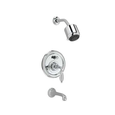 Jado Classic Pressure Balance Diverter Tub / Shower Faucet with Crystal Lever Handle