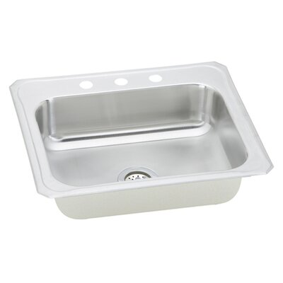 "Elkay Gourmet 25"" x 22"" x 7"" Top Mount Kitchen Sink"