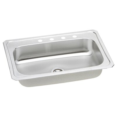 Elkay Gourmet Celebrity 7&quot; x 22&quot; Top Mount Kitchen Sink