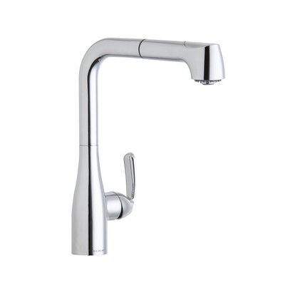 Gourmet One Handle Deck Mount Pull Out Kitchen Faucet