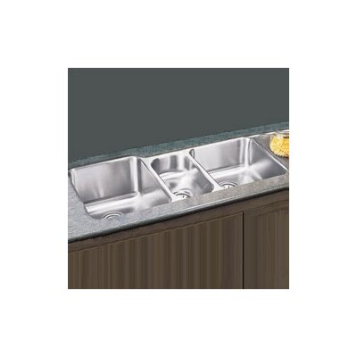 "Elkay 20""x40"" Undermount Triple Bowl Stainless Steel Kitchen Sink with Optional Faucet and Cutting Board"