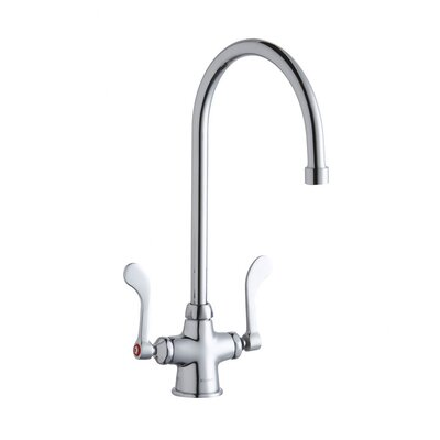Commercial Double Handle Deck Mount Bathroom Faucet - LK500GN08T4