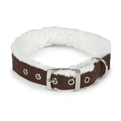 East Side Collection Cozy Sherpa Dog Collar