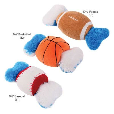Grriggles Champion Double Tugger Baseball Dog Toy