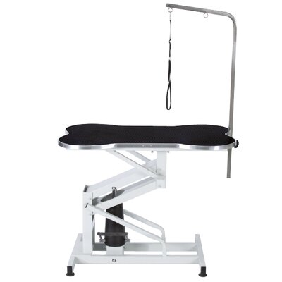 Master Equipment Bone Shaped Pet Hydraulic Table in Black