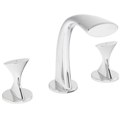 Pearce Double Handle Widespread Bathroom Faucet with Drain Assembly - SI-F022 / SI-F022-BN