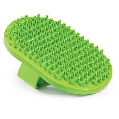 UGroom Rubber Curry Pet Brush Oval with Handstrap