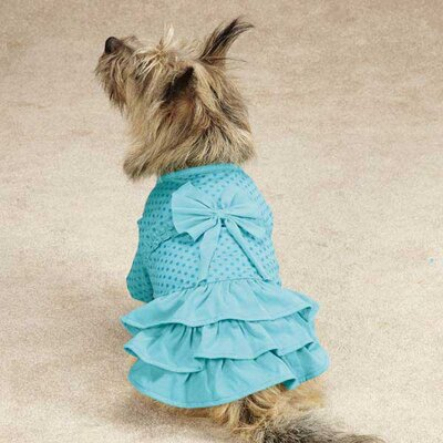 Polka Dot Ruffle Dog Dress